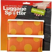 Luggage Spotters Designer Orange Polka Dot Luggage Spotter