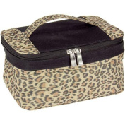 Leopard Print Expandable Bag with Portable Mirror