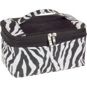 Zebra Print Expandable Bag with Portable Mirror
