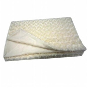 Premium Connexion 290-FAUXW Roberto Amee Sculpted Ivory Faux Fur Blanket