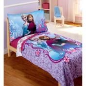 Disney Frozen Elsa & Anna 4-Piece Toddler Bedding Set
