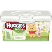 HUGGIES Natural Care Fragrance Free Baby Wipes, 64 sheets