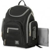 Baby Boom Places & Spaces Back Pack Nappy Bag, Black/Grey