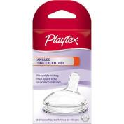 Playtex Angled Baby Bottle Nipple, Medium Flow, 2-Pack, BPA-Free