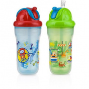 Nuby 2-Pack 270ml Insulated Flip-It Cup, Boy, BPA-Free