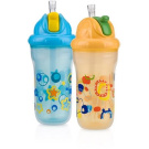 Nuby 2-Pack 270ml Insulated Flip-It Cup, Neutral, BPA-Free