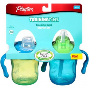 Playtex Training Time 180ml Starter Cup, 2-Pack, BPA-Free