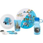 Zak Designs Frozen 6-Piece Dinnerware Set, Blue