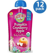 Earth's Best Organic Pumpkin Cranberry Apple Baby Food Puree, 120ml,