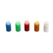 5 x LED Pin Light Fridge Magnets - Red, Blue, Yellow, Green, White