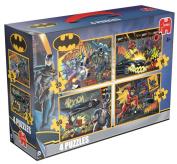 DC Comics - Batman 4 in 1 Suitcase Jigsaw Puzzles - JU17373