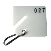 Key Tag Numbered 1 to 100, Square-Slotted, Height (In.) 1-5/8