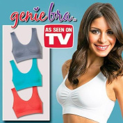 Set of 3 As Seen on TV Bright Colour Small Genie Bra