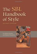 The Sbl Handbook of Style