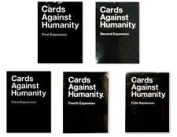 Cards Against Humanity Expansion Packs 1,2,3,4 and 5