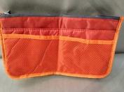 Liroyal Orange Handbag Pouch Bag in Bag Organiser Insert Organizer Tidy Travel Cosmetic Pocket Makeup Bag
