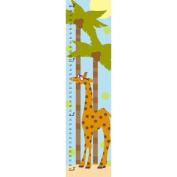 Green Leaf Art Summer Giraffe Growth Chart