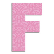 Stupell Industries Damask Hanging Initials