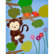 Green Leaf Art Monkey Canvas Art