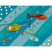 Green Leaf Art Helicopters Canvas Art