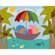 Green Leaf Art Vacation Time 1 Canvas Art