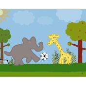 Green Leaf Art Soccer Game 1 Canvas Art