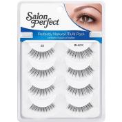 Salon Perfect Natural Multi Pack Eyelashes, 53 Black, 4 pr