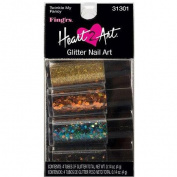 Fing'rs Heart 2 Art Glitter Nail Art, Twinkle My Fancy, 4 count, 5ml