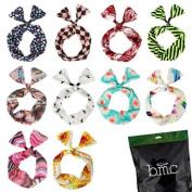 BMC 10pc Mix Design Wired Hair Tie Twist Bow Headband Scarf Wrap Accessory-Set 2