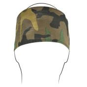 Zanheadgear HBF118 Headband with Fleece Cotton Woodland Camo