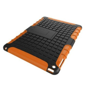iPad Air 2 Case - roocase [BLOK Armour] iPad Air 2 2014 Hybrid Dual Layer Rugged Case Cover with Kickstand for Apple iPad Air 2 (2014) 6th Generation Latest Model, Orange