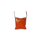 David King & Co 3507H Florentine Top Zip Mini Bag - Honey