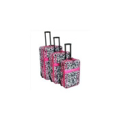 All-Seasons 813098D-PNK Vacation Expandable Upright Luggage Set, Pink Damask - 3 Piece