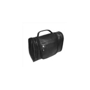 Canyon Outback Leather T527-03 Hackberry Canyon Hanging Leather Toiletry Bag, Black