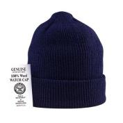 Genuine U.S. Navy 100% Wool Watch Cap in Navy Blue