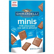Ghirardelli Minis Milk Chocolate Sea Salt & Almond Candies, 130ml