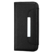 INSTEN Black Colour PU Leather MyJacket Wallet Stand Protective Case Cover For iPhone 5 5s 5th