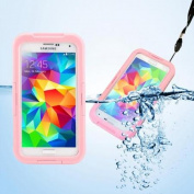 GEARONIC Waterproof Shockproof Dirt Snow Proof Durable Case Cover for Samsung Galaxy GALAXY S5 SV i9600 - Pink