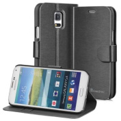 Samsung Galaxy S5 Mini Wallet Case - GreatShield [SHIFT LX] Leather Flip Cover with Stand for Galaxy S5 Mini