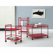 Altra Furniture Marshall Rolling Coffee Table Cart, Multiple Colours