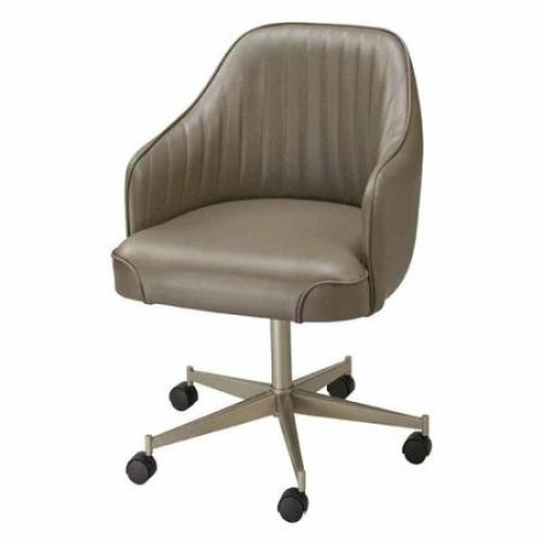 Dinette Chairs With Wheels: Regal Bucket Seat Standard Dining Chair With Arms On