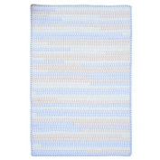 Colonial Mills Ticking Stripe Rect Starlight Area Rug