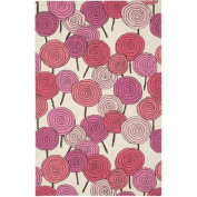 Capel Rugs Stick Candy Pink Area Rug