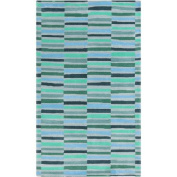 Surya Young Life Striped Teal Area Rug