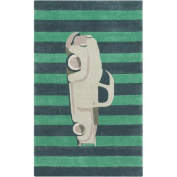 Surya Young Life Striped Car Green Area Rug
