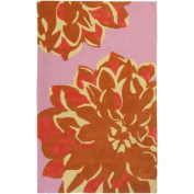 Surya Budding Lavender/Cherry Floral Area Rug