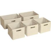 Guidecraft Set of 5 Storage Bins, Classic Espresso