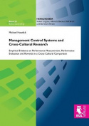 Management Control Systems and Cross-Cultural Research