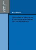 Strafrechtliche Analyse Der Umsatzsteuerhinterziehung Und Ihre Bekampfung  [GER]