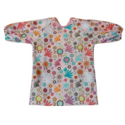 Long Sleeve Cotton Art Smock, Good Coverage, Breathable, Adjustable in Size (Preschool